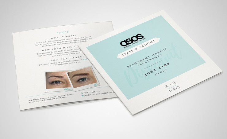 Asos Leaflet Graphics by TD Creative Studio in Leeds