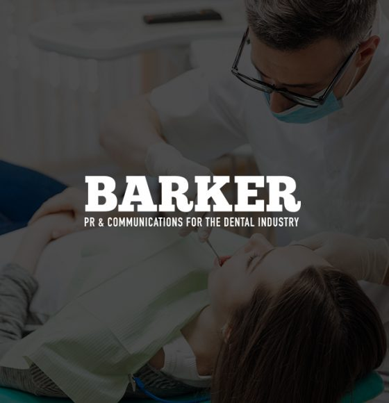 Male Dentist with Female Patient Graphic for Barker PR by TD Creative Studio Leeds