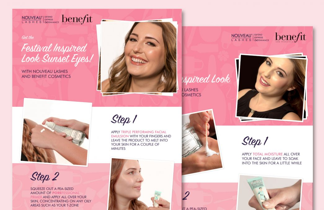 Nouveau Lashes Benefit Makeup Brochure by TD Creative Studio in Leeds