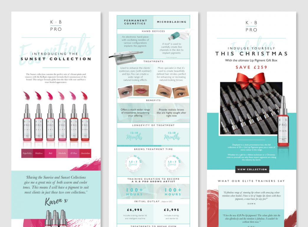 K. B Pro Makeup Academy Brochure by TD Creative Studio in Leeds
