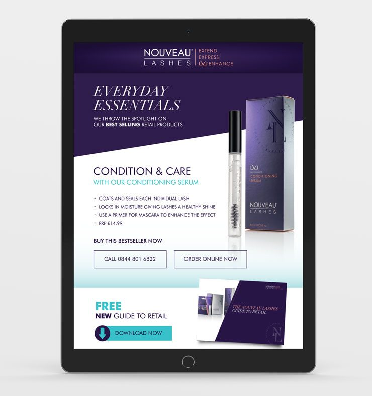 Nouveau Lashes Responsive Email Design By TD Creative in Leeds""