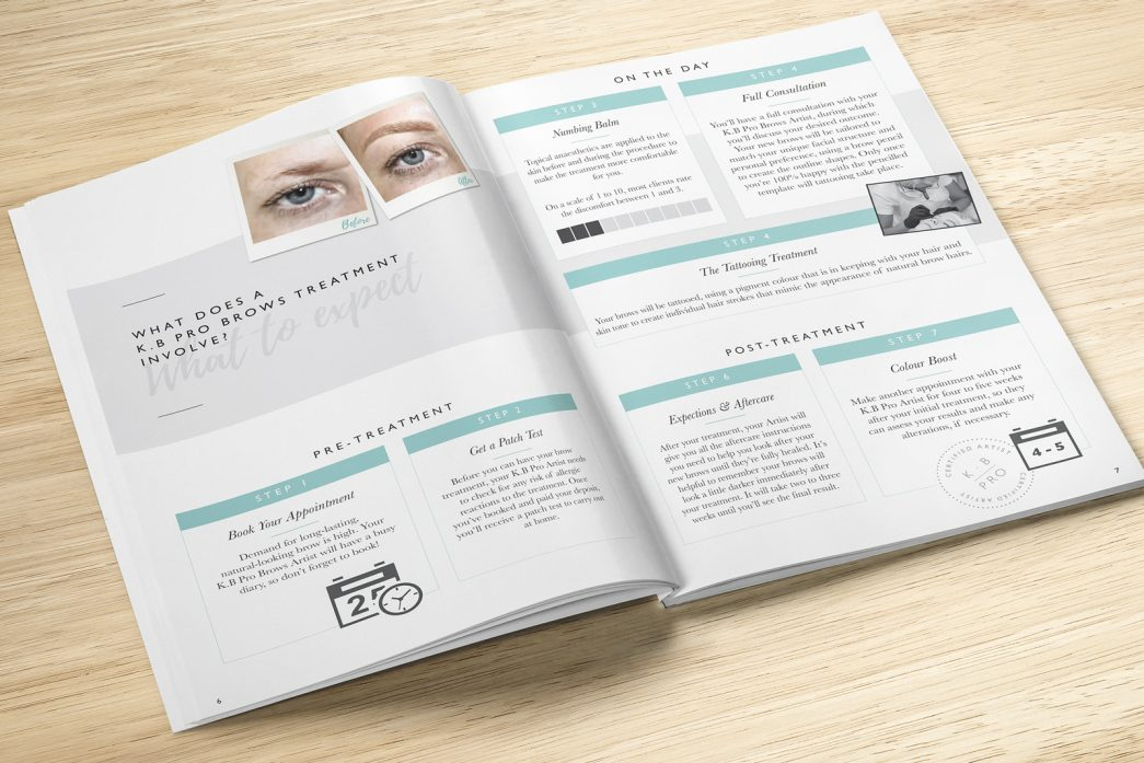 K.B Pro Brow Treatment Brochure by TD Creative Studio in Leeds