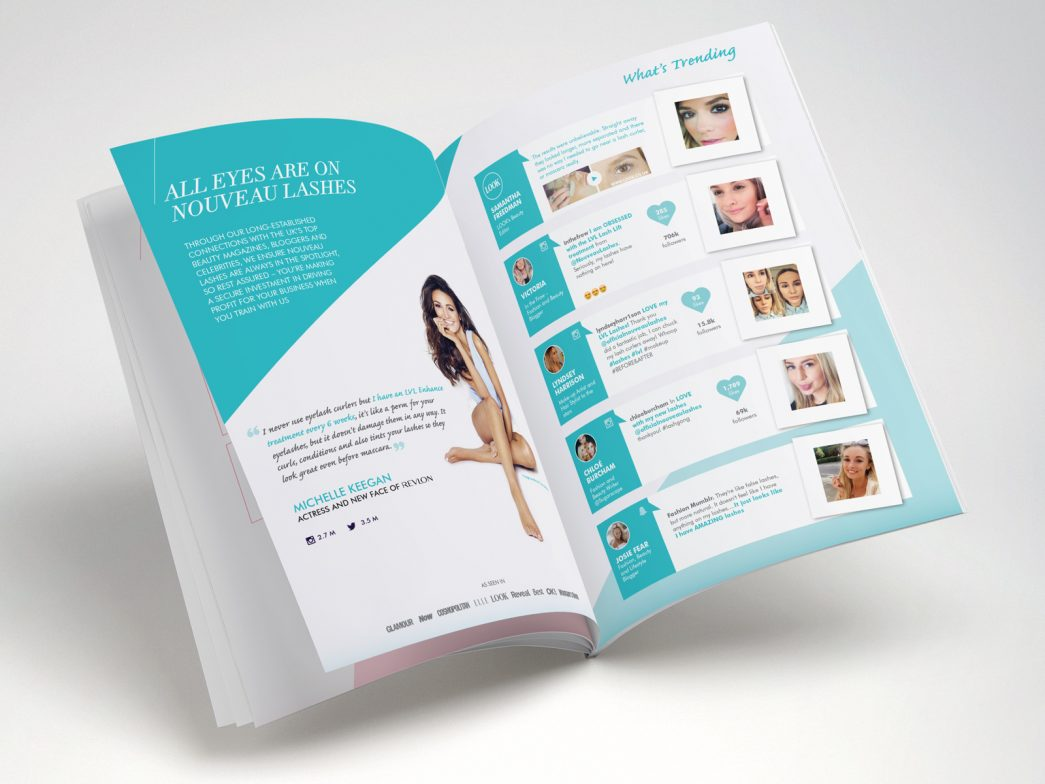 Nouveau Lashes Brochure Graphic by TD Creative Studio in Leeds
