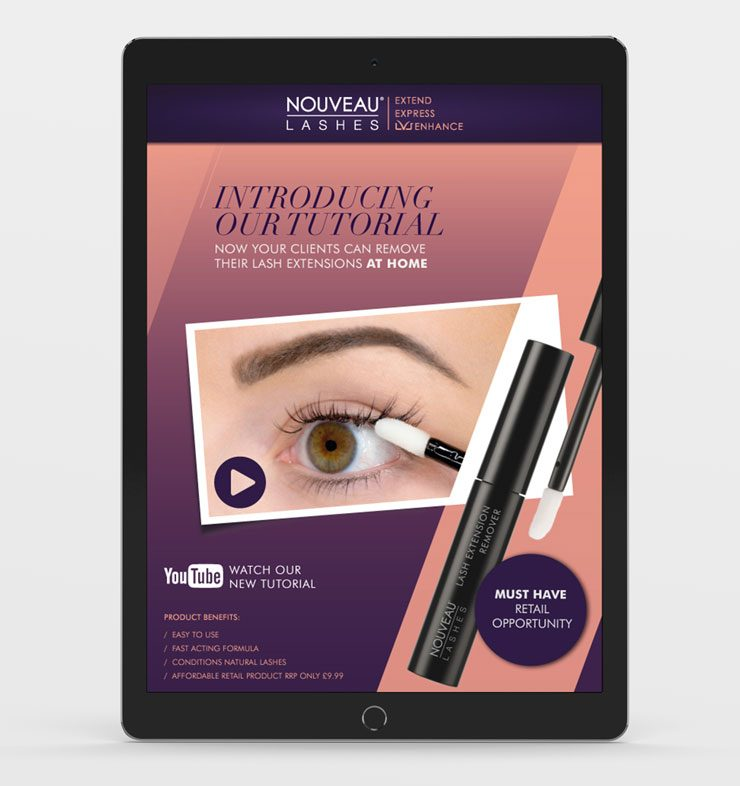 Nouveau Lashes Email Marketing Design by TD Creative Studio in Leeds
