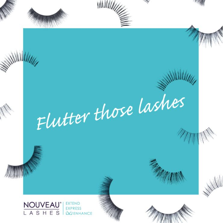 Flutter Those Lashes Social Media Graphic by TD Creative in Leeds