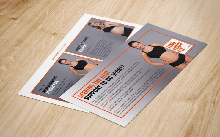 Panache Find You Fit Sports Bra Brochure by TD Creative in Leeds