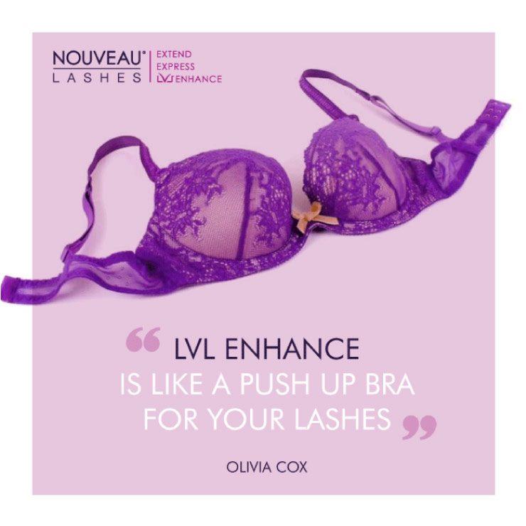 Purple Bra LVL Enhance Social Media Graphic by TD Creative in Leeds