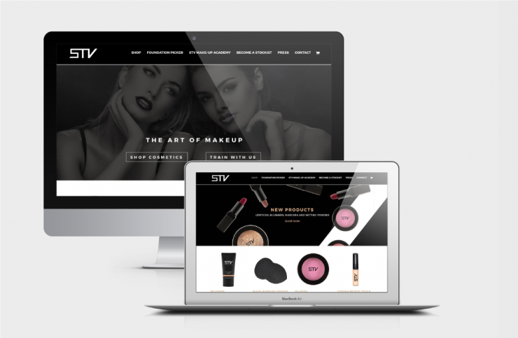 STV Cosmetics Responsive Design Graphic by TD Creative Studio in Leeds